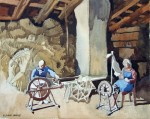 'Spinning Wheel, 'Devon', Original watercolour. FOR SALE
