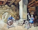 'Spinning Wheel, 'Devon', Original watercolour. FOR SALE