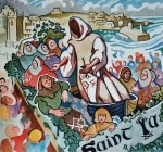 'Festival of St Ia, St Ives', original watercolour. FOR SALE