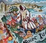 'Festival of St Ia, St Ives', original watercolour. FOR SALE